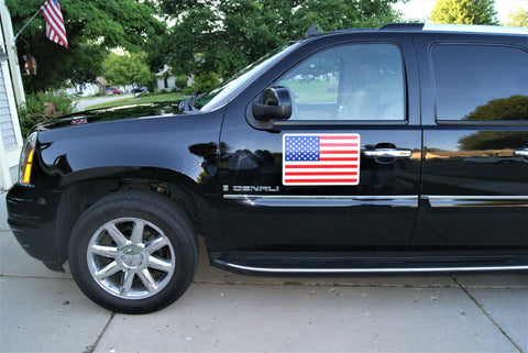 "12"" x 18"" Magnetic American Flag Decal"