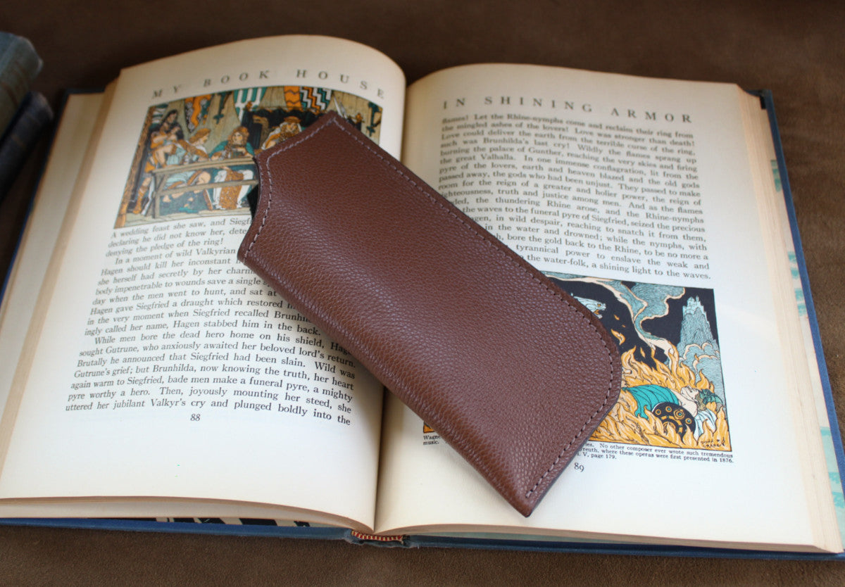 Eyeglass Pouch #1 - Dollaro Calf, Brown