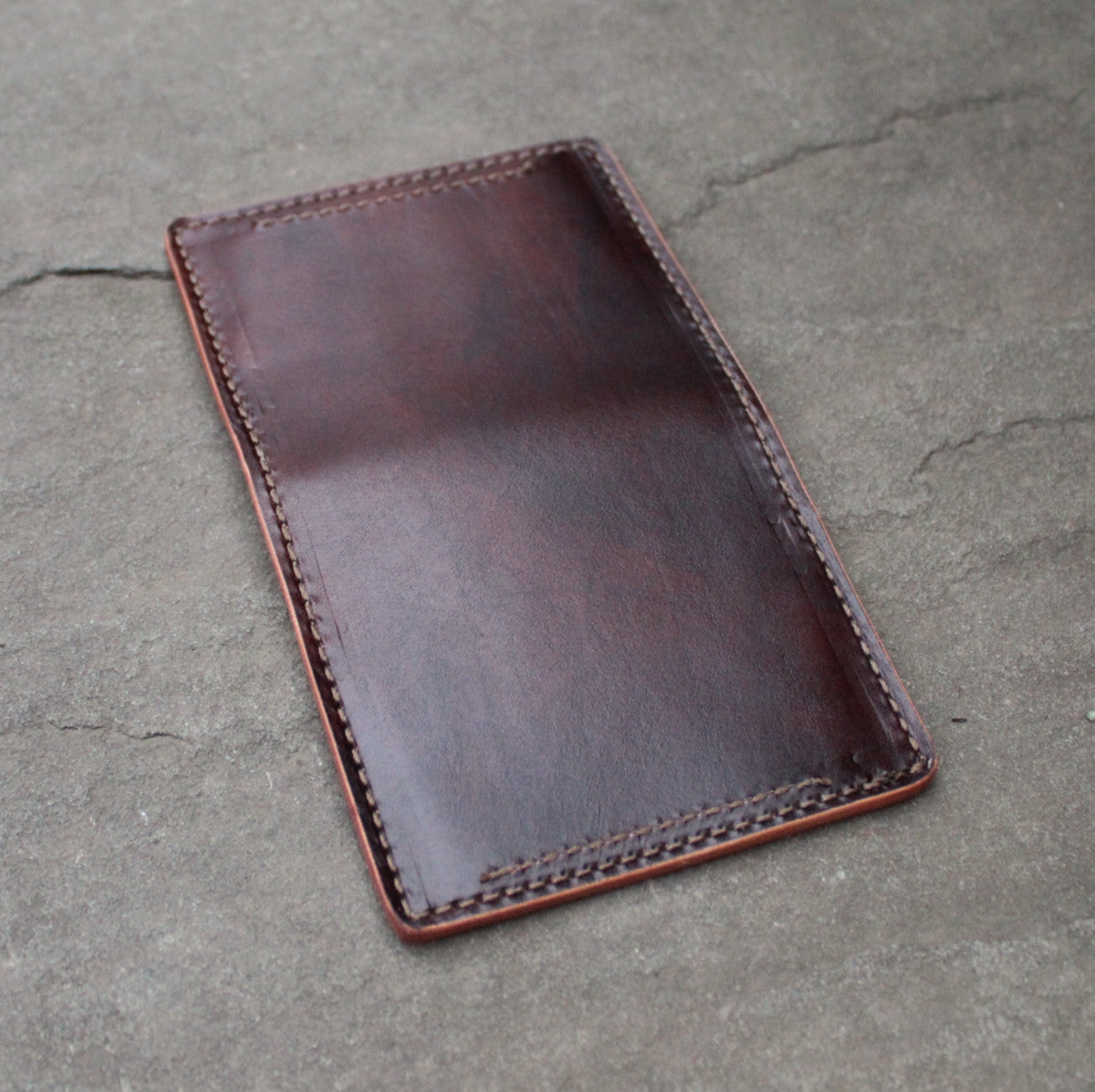 Hand Dyed Card Wallet #12 - Walnut