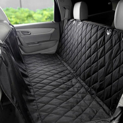 Durable WaterProof Car Seat Cover for Furry Friends Black close up