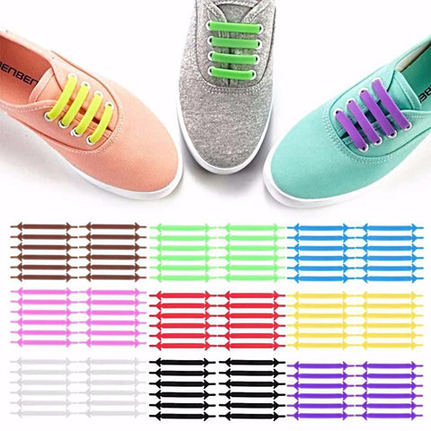 Athletic No Tie Shoelaces Colors
