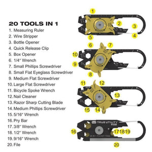 Handy Keychain Tool (20 Tools in One)