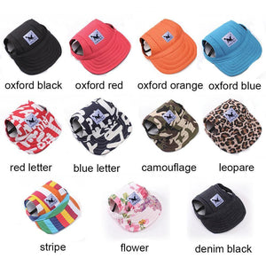 Visor Outdoors Fashion Dog Baseball Sun Hat Assorted Colors