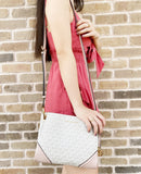 Michael Kors Nicole Large Triple Compartment Crossbody Vanilla + Bifold Wallet in Blossom Pink - Gaby's Bags