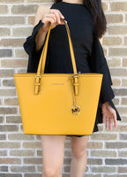 Michael Kors Jet Set Medium Carryall Tote Marigold Yellow - Gaby's Bags