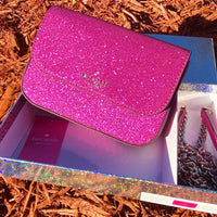 Kate Spade Lola Convertible Belt Bag Glitter Crossbody Handbag Hot Pink GIFT BOX