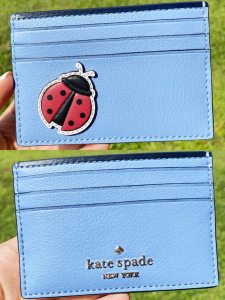 Kate Spade Enchanted Forest Ladybug Small Card Holder Wallet