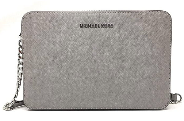 Michael Kors Jet Set East West Large Crossbody Pearl Grey - Gaby's Bags