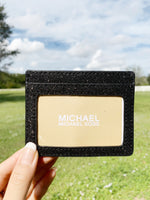 Michael Kors Giftables Large Card Holder Black Glitter - Gaby's Bags
