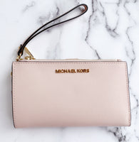 Michael Kors Teagen Large Jet Set Chain Tote Bag Blossom + Double Zip Wristlet