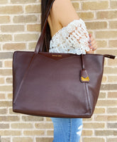Michael Kors Whitney Large Top Zip Tote Barolo Leather
