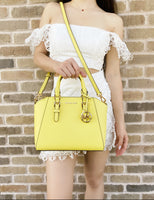 Michael Kors Medium Ciara Messenger Bag Sunshine Yellow Saffiano Leather