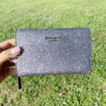 Kate Spade Joeley Glitter Medium Bifold Wallet Dusk Navy - Gaby's Bags