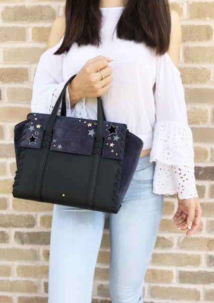 Kate Spade Madison Avenue Danial Drive Small Abigail Satchel Crossbody Stars - Gaby's Bags
