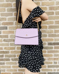 Tory Burch Emerson Envelope Adjustable Chain Shoulder Bag Dusty Violet Lilac