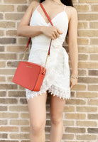 Michael Kors Jet Set East West Leather EW Crossbody Light Terracotta - Gaby's Bags