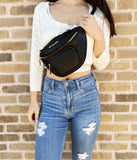 Michael Kors Erin XS Waist Fanny Pack Crossbody Belt Bag Pebbled Leather Black