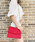 Tory Burch Emerson Envelope Adjustable Chain Shoulder Bag Beilliant Red