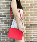 Michael Kors Jet Set East West Large Crossbody Saffiano Leather Coral Reef