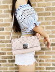 Michael Kors Tina Clutch Perforated Blossom Pink Shoulder Bag