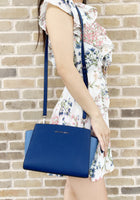 Michael Kors Selma Medium Messenger Bag Crossbody Sapphire Blue - Gaby's Bags