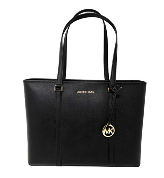 460feee9a Michael Kors Sady Large Multifunctional Top Zip Tote Black Laptop Bag