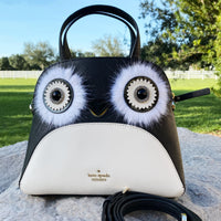 Kate Spade Dashing Beauty Penguin Small Lottie Satchel Crossbody Black