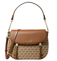Michael Kors Evie Medium Shoulder Bag Crossbody Beige Brown MK