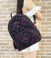 Kate Spade Karissa Large Nylon Quilted Confetti Festive Poka Dots Backpack