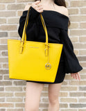 Michael Kors Jet Set Medium Carryall Tote Jasmine Yellow - Gaby's Bags