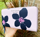 Kate Spade Cameron Grand Flora Neda Large Continental Wallet Serendipity Pink