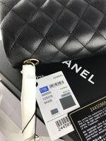 Authentic Chanel Classic Mini Rectangle Flap Bag Black Caviar Light Gold Hardware 17 - Gaby's Bags