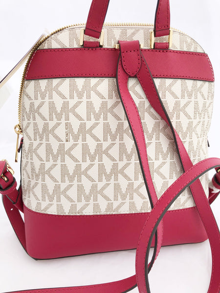 6dc7330ecd07be ... Michael Kor Emmy Small Backpack Vanilla MK Signature Pink Floral  Glitter - Gaby's ...