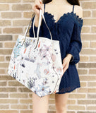 Tory Burch Kerrington Square Tote Poetry of Things Allover Floral Beige