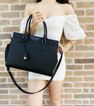 Kate Spade Cameron Large Top Zip Satchel Black Crossbody Leather