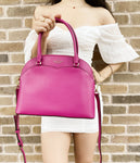 Kate Spade Payton Medium Dome Satchel Crossbody Deep Magenta Pink