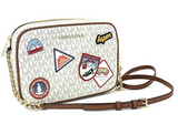 Michael Kors ASPEN Jet Set East West Large Signature MK Crossbody Vanilla Multi - Gaby's Bags