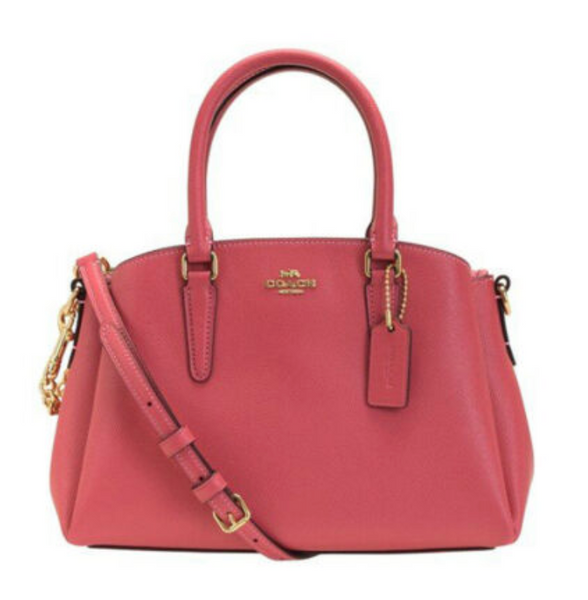 Coach F28977 Mini Sage Satchel Bag Crossbody Pink Rouge - Gaby's Bags
