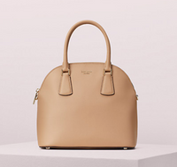 Kate Spade Sylvia Large Dome Satchel Light Fawn PXRUA271 - Gaby's Bags