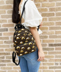Michael Kors Erin Small Convertible Backpack Crossbody Brown MK Signature Taxi