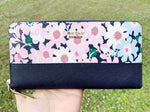 Kate Spade Cameron Street Lacey Large Zip Around Wallet Floral Multi - Gaby's Bags