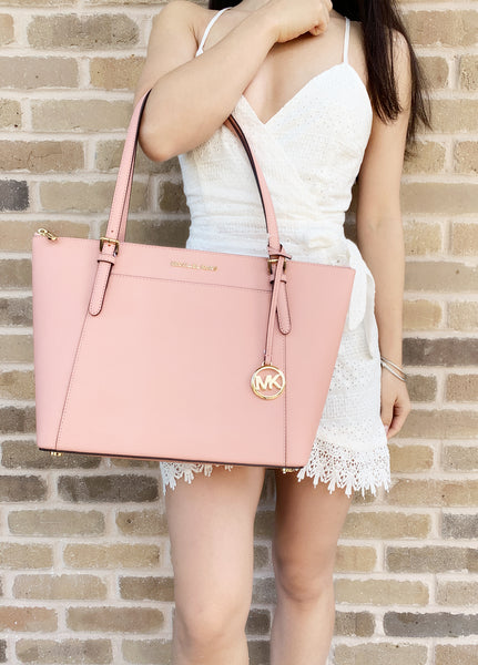 Michael Kors Ciara Large East West Top Zip Tote Pale Pink - Gaby's Bags
