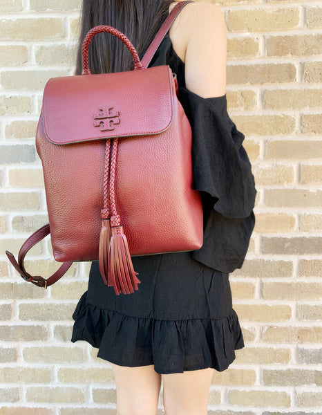 Tory burch Taylor Backpack Imperial Garnet - Gaby's Bags