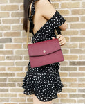 Tory Burch Emerson Envelope Adjustable Chain Shoulder Bag Imperial Garnet