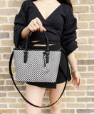 Michael Kors New York City XS Carryall Tote Convertible Crossbody Black White