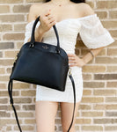 Kate Spade Payton Medium Dome Top Zip Satchel Crossbody Black