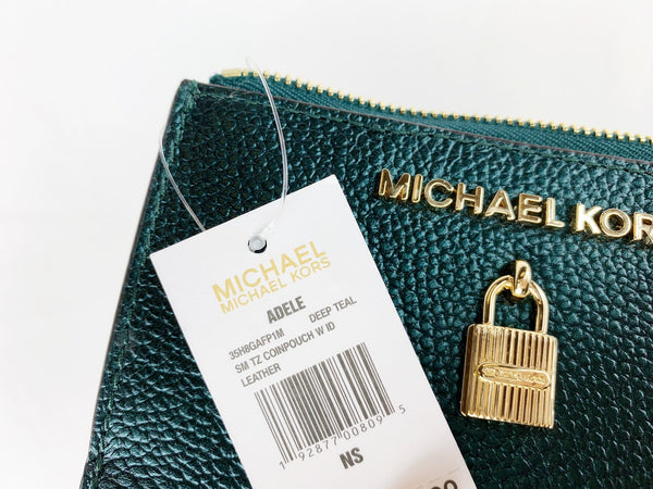 97308281390775 ... Michael Kors Jet Set Travel Zip Coin Wallet ID Keyring Card Holder Deep  Teal