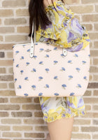 Coach F73203 City Zip Top Tote Pink Floral Multi - Gaby's Bags