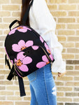 Kate Spade Dawn Grand Flora Bradley Backpack Black Pink Floral