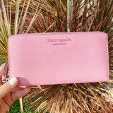 Kate Spade Cameron Neda Zip Around Continental Wallet Bright Carnation Pink
